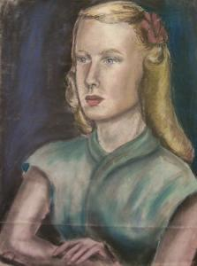 A Self-Portrait of Sylvia Plath from the early 1950's