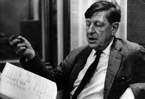 W. H. Auden with Manuscript