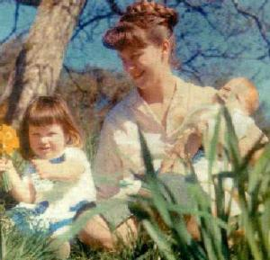 Plath with her Children, Devon, 1962