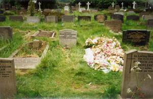 The grave of Sylvia Plath
