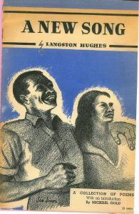 "Book jacket for A New Song (1938), which gathered together such political poems as ""Let America Be America Again"" and ""Lynching Song."""
