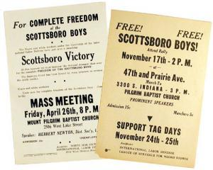 1933 ILD Leaflets in support of Scottsboro Boys