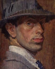 Isaac Rosenberg painted portrait